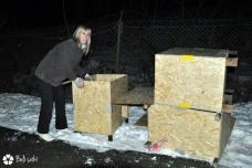 """Ob dostavi 50 hišic, ki smo jih z prijatelji prostovoljci sestavili. Akcija """"HIŠKA NA HIŠKO = BOŽIČEK"""""""